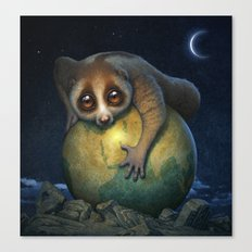 Loris Planet Canvas Print