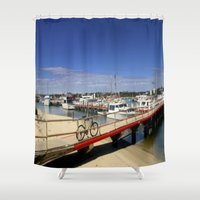 bicycle Shower Curtains featuring Bicycle  by Chris' Landscape Images & Designs