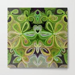 Green Lotus Large Metal Print
