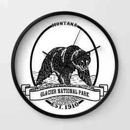 Glacier National Park Emblem Wall Clock