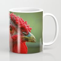 rooster Mugs featuring Rooster by Nichole B.