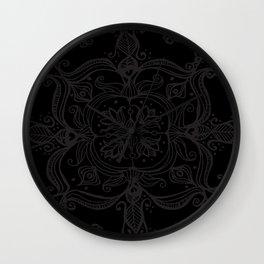 Dark Side Mandala Wall Clock