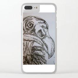 Turkey Vulture Clear iPhone Case