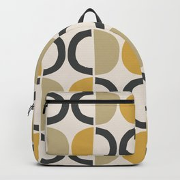 Mid Century Modern Half Circle Pattern 590 Backpack