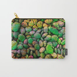 Stones and Palms - Green Grass Carry-All Pouch