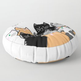 Adopt all the cats Floor Pillow