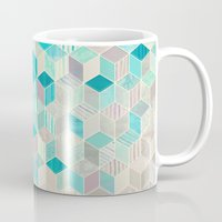 bedding Mugs featuring Vacation Patchwork by micklyn