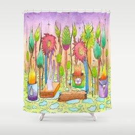 Dream Garden 2 Shower Curtain