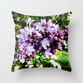 Lilac Luster Throw Pillow
