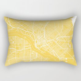 Dallas map yellow Rectangular Pillow
