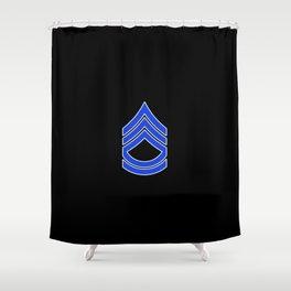 Sergeant First Class (Police) Shower Curtain