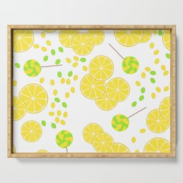 Candy sweets of lemon lollypops Serving Tray