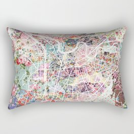 Grenoble map Rectangular Pillow
