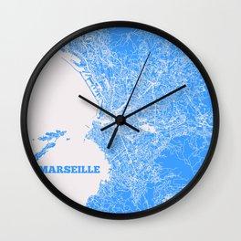 Marseille, France street map Wall Clock