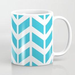 Blue and white chevron pattern Coffee Mug