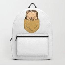 Hedgehog In Pocket Backpack