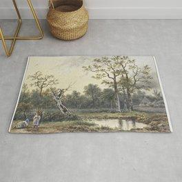Landschap met twee sprokkelaarsters by Georgius Jacobus Johannes van Os (1782-1861) Rug