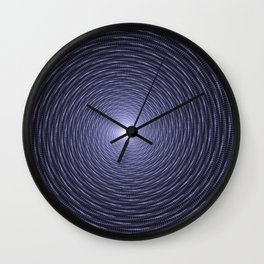 Abstract Fractal Blue Spiral Background Wall Clock