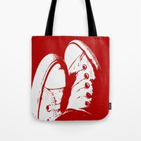 converse Tote Bags featuring Converse by Dawn East Sider