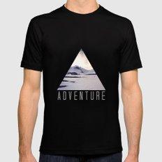 mountain adventure Mens Fitted Tee Black MEDIUM
