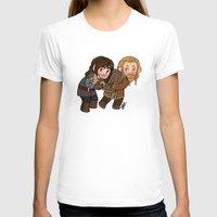 fili T-shirts featuring Fili and Kili by Hattie Hedgehog