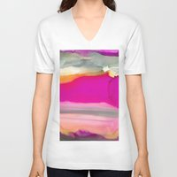 agate V-neck T-shirts featuring Crazy Agate by Amie Amyotte