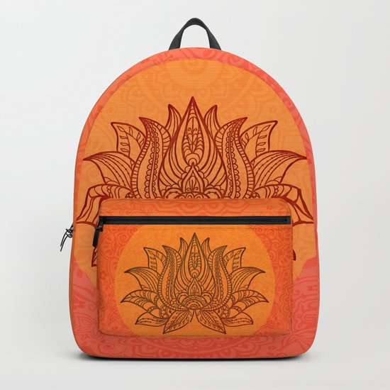 Lotus Flower of Life Meditation  Art Backpack