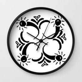 Garland Square  Wall Clock