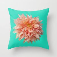 jewish Throw Pillows featuring Flower Petals by Brown Eyed Lady