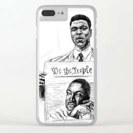 We the People Clear iPhone Case