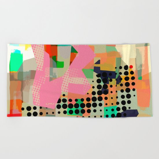 Abstract Painting No. 10 Beach Towel