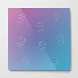 Teeth Calm pink salt ocean gradient color Metal Print