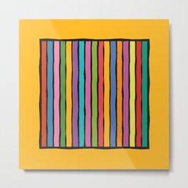 dp203-3 Colorful Stripes Metal Print