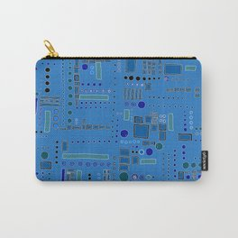 All Bars, Circles, and Dots Carry-All Pouch
