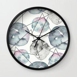 Orbiting Asteroid Pattern Wall Clock