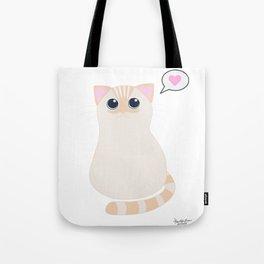 I meow you - transparent Tote Bag