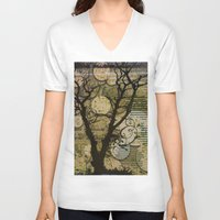 silhouette V-neck T-shirts featuring Silhouette by April Gann
