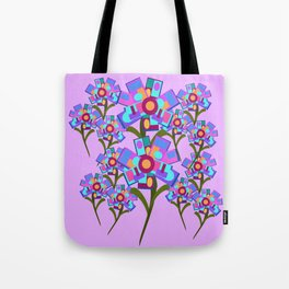Square Flowers Tote Bag