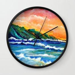 Romantic Kauai Sunset Wall Clock