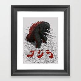 The Great Daikaiju Framed Art Print
