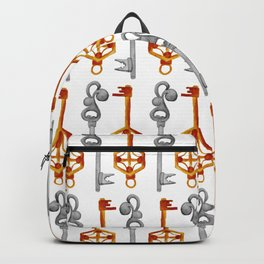 Watercolor Boho Style Key Pattern Backpack