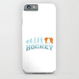 Ice Hockey Skate Skating Game Goalie Net Field Stick Shinny Evolution Of Hockey Gift iPhone Case