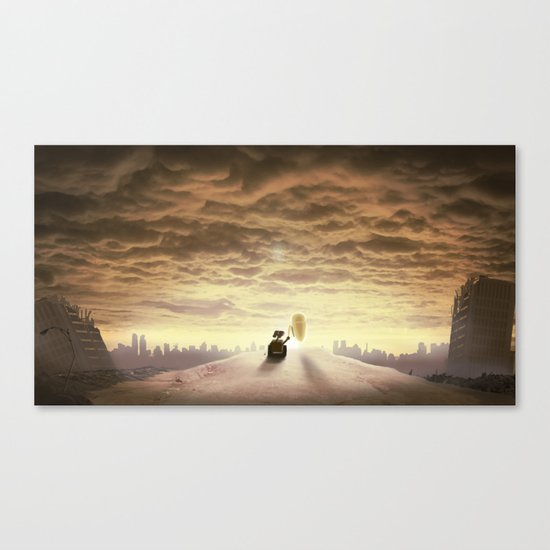 Robo-love Canvas Print