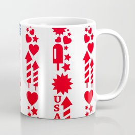 Fourth Of July Celebration USA Flag Coffee Mug