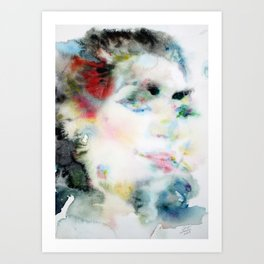 MARIA CALLAS -watercolor portrait Art Print