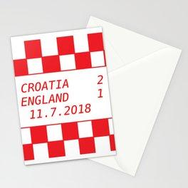 Croatia vs. England Stationery Cards