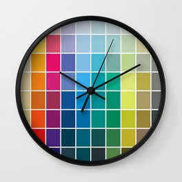 Colorful Soul - All colors together Wall Clock