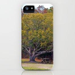 Picnic Under The Oak iPhone Case
