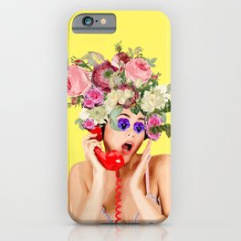 Woman in Rose iPhone Case