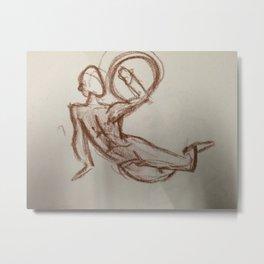 Nude Man With Shield Metal Print